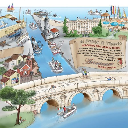 Centro Nautico Alla Deriva - Rimini - Mete: Ponte di Tiberio e porto